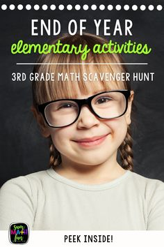 Is it possible to have your kids still excited about learning and working at the end of the year? Yes! Engage your third graders with this no-prep end of year math scavenger hunt and get them solving multi-step word problems using the skills they've learned throughout the year! Math School, End Of School Year, End Of Year, Middle School, 3rd Grade Math, Grade 3, Third Grade, Math Classroom, Classroom Activities