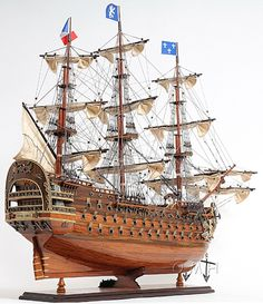 """CaptJimsCargo - Royal Louis 1779 Wooden Model Tall Ship 37"""" Sailboat Built Boat,  (http://www.captjimscargo.com/model-tall-ships/warships/royal-louis-1779-wooden-model-tall-ship-37-sailboat-built-boat/) This is an Exclusive Edition Model Ship, where each model is uniquely identified by a serial number, which is laser cut to the hull of each model."""