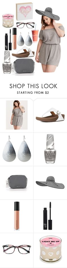 """""""Untitled #467"""" by skylovessave ❤ liked on Polyvore featuring Torrid, FitFlop, OPI, Nine West, Bare Escentuals, e.l.f., EyeBuyDirect.com and Concepts in Time"""