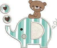 Teddy on top of ellie