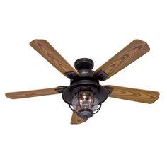 "52"" Northshore New Bronze Outdoor Ceiling Fan Lowe's $199"