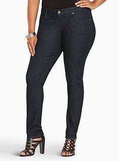 Plus Size Torrid Curvy Skinny Jeans - Dark Wash (Tall), RINSE