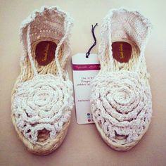 alpargatas made in crochet by TejiendoHistorias on Etsy