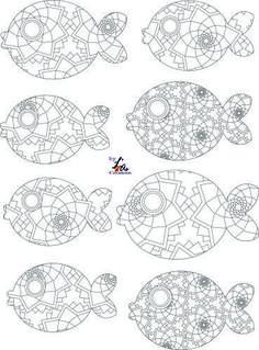 poissons à colorier by L¨As Créations: