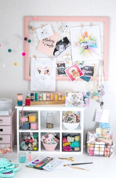 We love this little corner of Steffi Ried's craft studio!