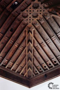 Moorish wood coffered ceilings.  | Carved Wood Ceilings