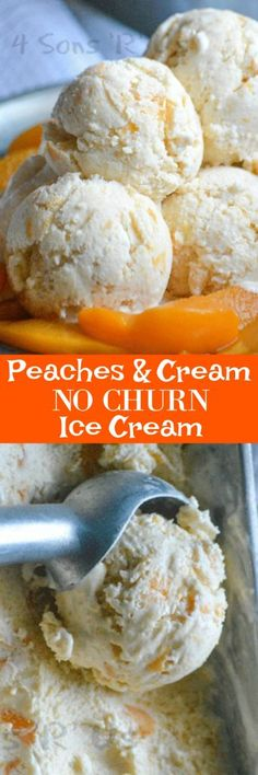 A rich and creamy dessert, this Peaches & Cream No Churn Ice Cream features the perfect pairing of fresh sweet fruit and indulgent cream in one irresistible, frozen treat. #summerdessertweek #ad