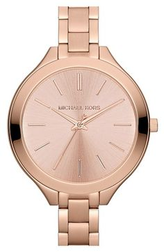 Michael Kors 'Slim Runway' Thin Bracelet Watch, 42mm available at #Nordstrom