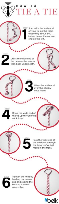 A polished southern gentleman completes his look with a tie regardless if he's out at dinner with his wife or talking business with the colleagues. Here is a how-to for tying a knot the southern way. Belk carries a variety of ties such as striped, geometric, plain, long, skinny and many more. Go to belk.com for all your tie needs.