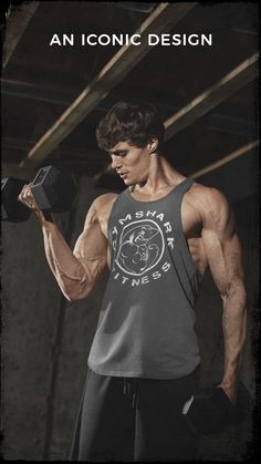 An iconic design. The Legacy Stringer, worn by David Laid for all his gym workouts. Best Motivational Fitness Quotes Pics for Men. Ems Fitness, Physical Fitness, Fitness Goals, Fitness Motivation, Fitness Quotes, Workout Fitness, Bodybuilder, Weight Lifting Motivation, Cardio