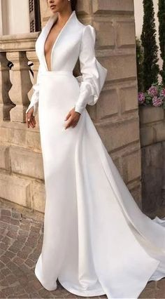 Fashion Evening Gowns Formal Dresses for Girl Glamorous Dresses - Fashion Evening Gowns Formal Dresses for Girl Glamorous Dresses – inloveshe Source by - Girls Formal Dresses, Wedding Dress Sleeves, Modest Wedding Dresses, Trendy Dresses, Nice Dresses, Fashion Dresses, Dress Wedding, Wedding Flowers, Simple Bridal Dresses