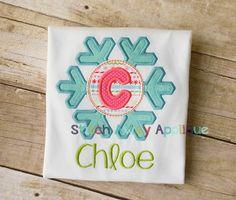 Winter Snowflake Alpha Machine Embroidery Applique Design by StitchAwayApplique on Etsy https://www.etsy.com/listing/169761664/winter-snowflake-alpha-machine