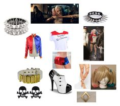 """""""Harley Quinn"""" by artemis-moonlight on Polyvore featuring ASOS, WithChic, Philippe Audibert, women's clothing, women's fashion, women, female, woman, misses and juniors"""