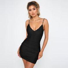 Women Backless Mini Bodycon Party Sexy Dress   #PartyDress #Bodycondress #minidress #sexydress #NightOut #Partywear #nightclub #clubwear Clubwear Dresses, Nightclub, Sleeve Styles, Party Dress, Backless, Bodycon Dress, Mini, Sexy, Sleeves