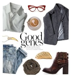 """Good Genes"" by amymrbll ❤ liked on Polyvore featuring J.Crew, Michael Kors, Steven by Steve Madden, Cashmerism and Shaun Leane"