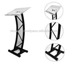 Source Steel truss design organic glass church podium stand, acrylic podium pulpit lectern desk for sale on m.alibaba.com