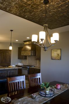 #kitchen #diningroom #tin #SHIncOnline #BuildingExcellence #JeffersonCityArea #SHKitchen www.signaturehomesjc.com