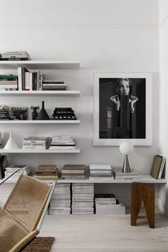 The Nordroom - Open Shelves & Art in Therese Sennerholts Soft Monochrome Stockholm Apartment