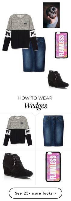 """""""pink 4"""" by modest-pearl on Polyvore featuring Forever 21, TOMS and Uniqlo"""