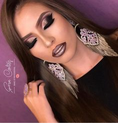 Heavy Makeup, Full Face Makeup, Lip Makeup, Dark Gothic, Gothic Art, Lovely Eyes, Makeup Artistry, Bridal Hair And Makeup, Diy Dress