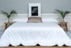 Luxury Made Livable - SACHI White Sateen Sheet Set