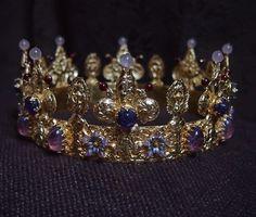 Coronet for an SCA countess.  https://www.facebook.com/evajohanna.arts.crafts