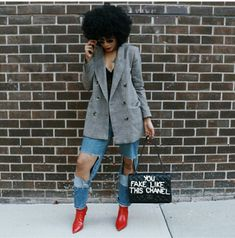Likes, 137 Suggestions – Kia Marie ♑️ (The Notorious Okay.) on Instagr… - Autos Online Fall Winter Outfits, Autumn Winter Fashion, Winter Wear, Fall Fashion, Fashion Women, High Fashion, Blazer Fashion, Fashion Outfits, Casual Outfits