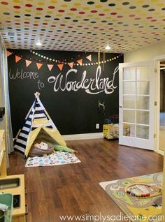 Kids playroom is often fused with kids room to ease parents to supervise their kids. Therefore you need to kids playroom decor appropriate to the age their growth Playroom Decor, Kids Decor, Home Decor, Playroom Storage, Playroom Design, Wall Decor, Boys Playroom Ideas, Playroom Paint, Playroom Flooring