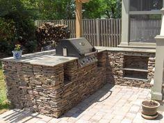 dans le jardin moderne barbecue fixe encastr dans la cuisne