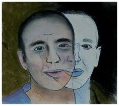 Dubbelportret - softpatel op papier