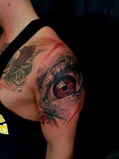 Chronic Ink Tattoo - Toronto Tattoo Evil Eye tattoo done by Csaba.
