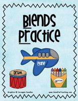 Blends Practice Activity: Sort the Picture, Word, and Blend cards in the correct piles. Record answers on the answer sheet included. Information: Phonics, Blends, Letter Sounds