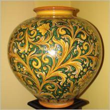 Vaso in Ceramica di Caltagirone - Ceramiche Artistiche Agatino Caruso - La Ceramica di Caltagirone
