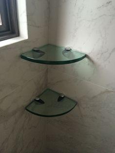 Repisa para baño en 10 y 12 mm #decoracionbañospequeños