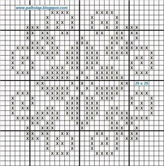 Cross Patterns, Counted Cross Stitch Patterns, Cross Stitch Designs, Hardanger Embroidery, Cross Stitch Embroidery, Fillet Crochet, Crochet Cross, Crochet Diagram, Fair Isle Knitting