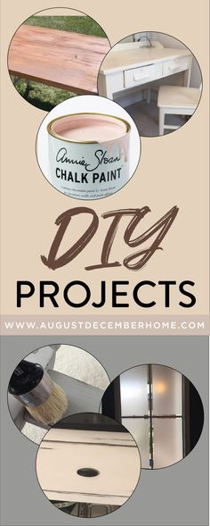 Check out all these beautiful DIY projects, from AugustDecemberHome. Fun Chalk Painting Projects | Home DIY and Printables | Interior Design and Decor | Curb Appeal | More...