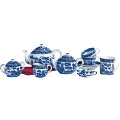 Blue Willow Teapot 32 oz