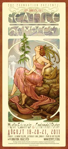 2011 Seattle Hempfest Collector Poster by Cory & Catska Ench.