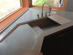 Concrete Kitchen Sink Fruit Decor For 50 Best Images Decorating Integrated Removable Cutting Board In This Integral Contemporary Sinks Large