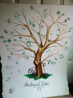 Wedding Tree- Awesome Alternative to a Guest Book. $75.00, via Etsy.