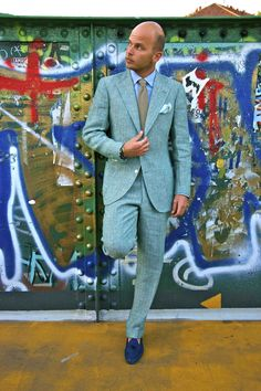 Luca Rubinacci comes from a family of Italian tailors, he always looks great