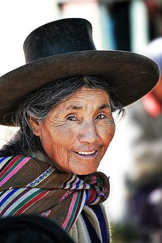 "Elder woman from the Sacred Valley near Cusco, Peru. Repinned by Elizabeth VanBuskirk, author of the new book, ""Beyond the Stones of Machu Picchu: Folk Tales and Stories of Inca Life"""