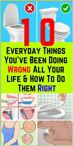 HERE ARE 10 EVERYDAY THINGS YOU�VE BEEN DOING WRONG ALL YOUR LIFE & HOW TO DO THEM RIGHT!!! Men's Health Fitness, Planet Fitness Workout, Health And Wellness, Health Care, Fitness Tips, Mental Health, Oral Health, Tongue Health, Thyroid Health