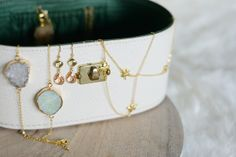 {Fabelaktig} Secrets By B jewelry, vintage jewelry box, gold, 14k gold, earings, bracelets, necklace