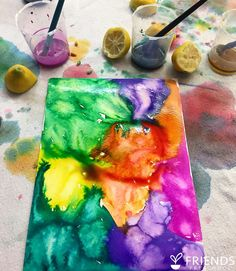"""""""One of my FAVORITE process-art projects only has two ingredients: liquid watercolor and lemons..."""