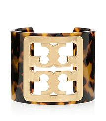 FRAMED LOGO CUFF -- I love cuffs this whole year! I saw this in the store. I love the tortoise shell and gold.