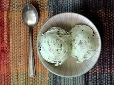 Homemade Mint Chocolate Chip Ice Cream. Made with sweetened condensed milk, so no cooking required!