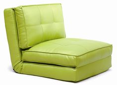 SOFABED-09. Available in Lime, bright color. PU materials. CA fire retardant. A comfy, compact sofa bed, perfect for sleep over, light weight. (Pic.1)