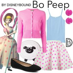 DisneyBound is meant to be inspiration for you to pull together your own outfits which work for your body and wallet whether from your closet or local mall. As to Disney artwork/properties: ©Disney Toy Story Kostüm, Bo Peep Toy Story, Toy Story Party, Toy Story Halloween Costume, Toy Story Costumes, Family Costumes, Baby Costumes, Little Bo Peep Costume, Disney Mode