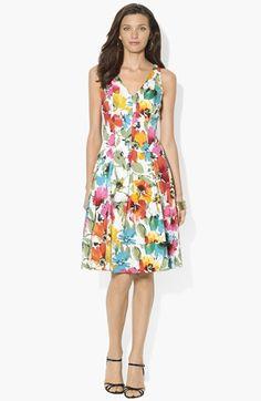 Lauren Ralph Lauren Print Fit & Flare Dress available at #Nordstrom $149.00 Item #646136